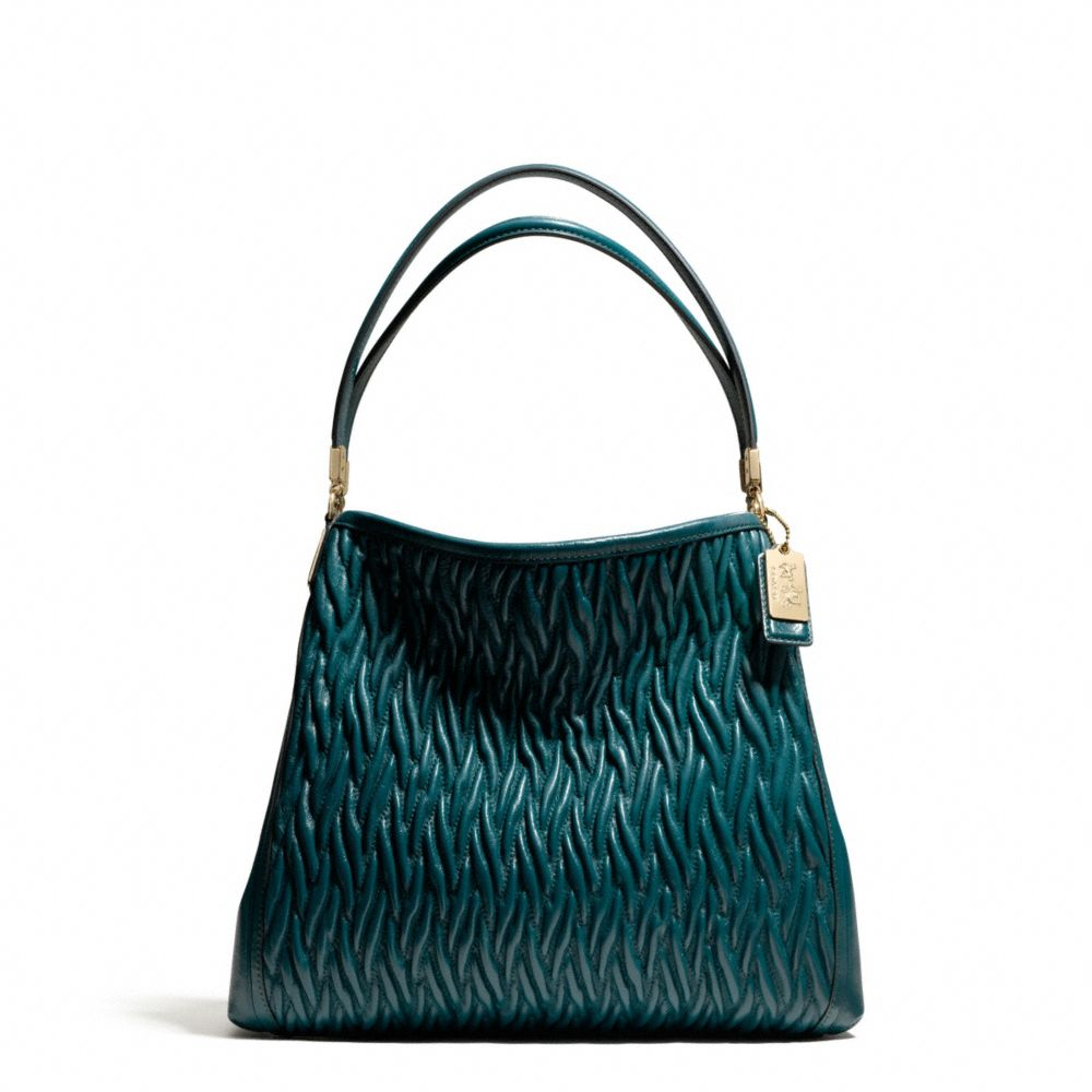 coach small phoebe shoulder bag in gathered twist