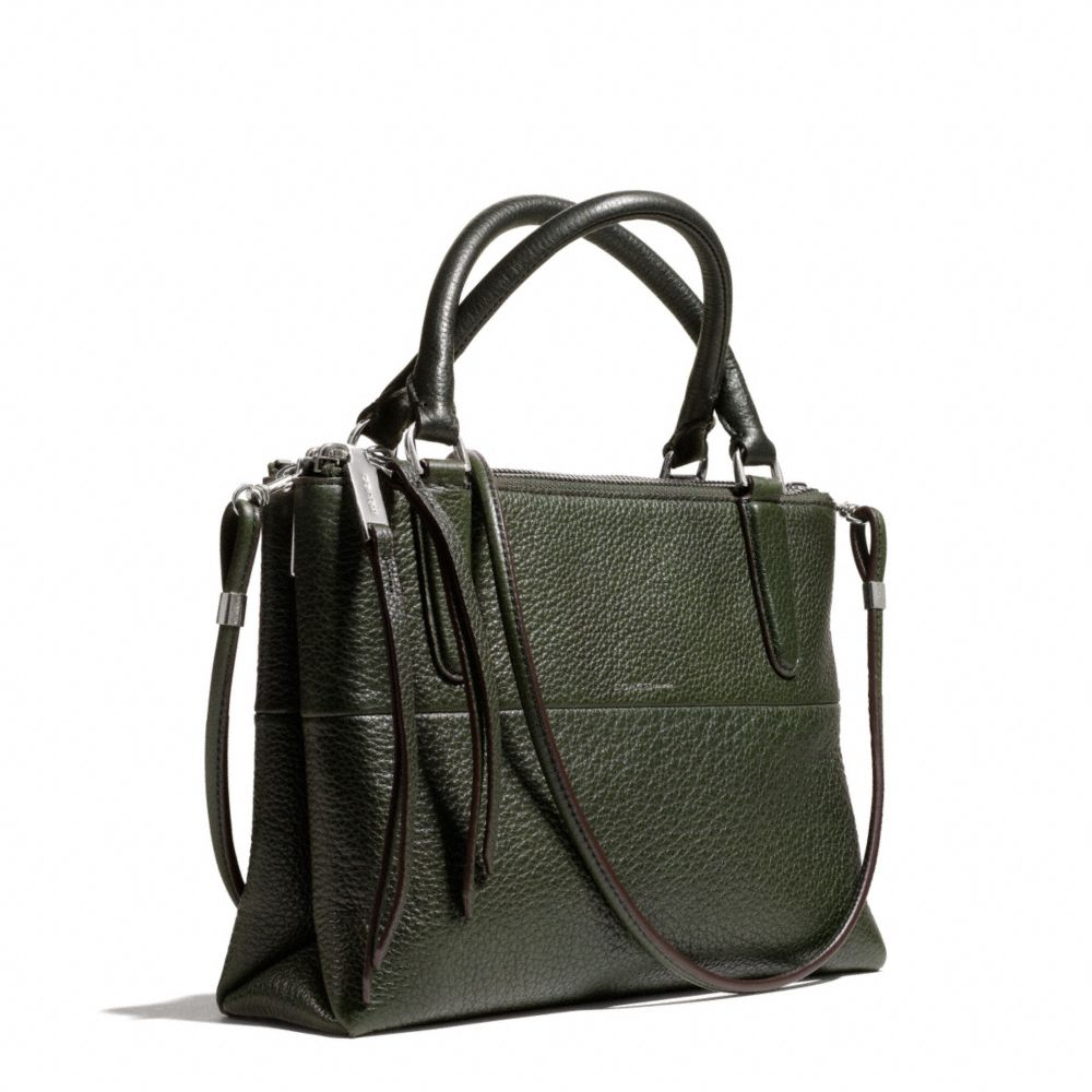 Lyst Coach Mini Borough Bag In Pebbled Leather In Black
