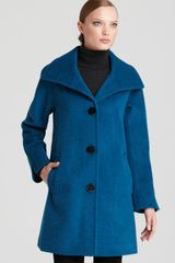 Ellen Tracy Funnel Collar Aline Coat - Lyst