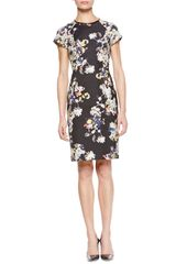 Erdem Marta Shortsleeve Floral Dress - Lyst