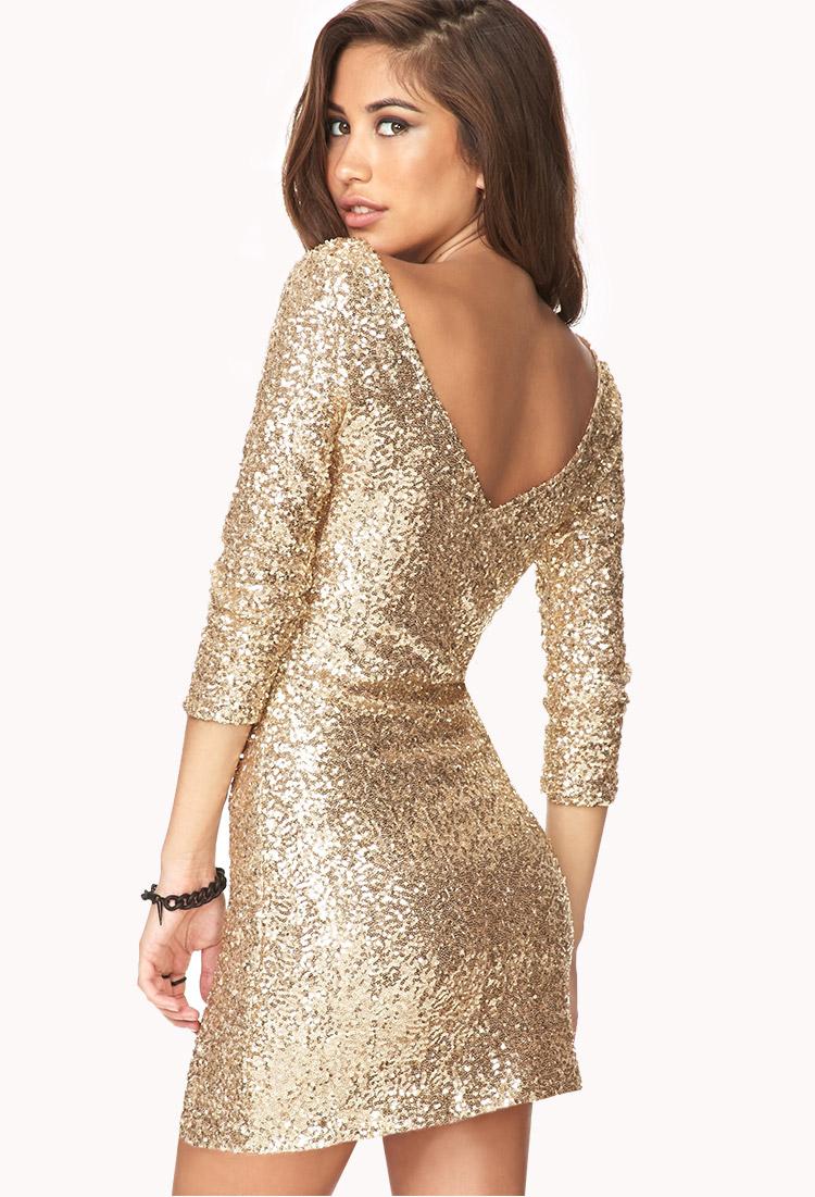 Long Sleeve Gold Dress Forever 21 Dress Ideas
