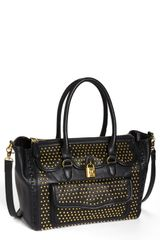 Jessica Simpson Madison Pebble Studded Faux Leather Satchel - Lyst