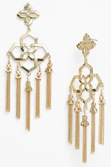 Kendra Scott Geometric Fringe Chandelier Earrings - Lyst