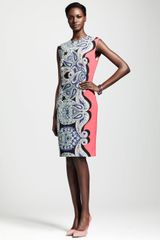 Lanvin Capsleeve Paisley Sheath Dress - Lyst