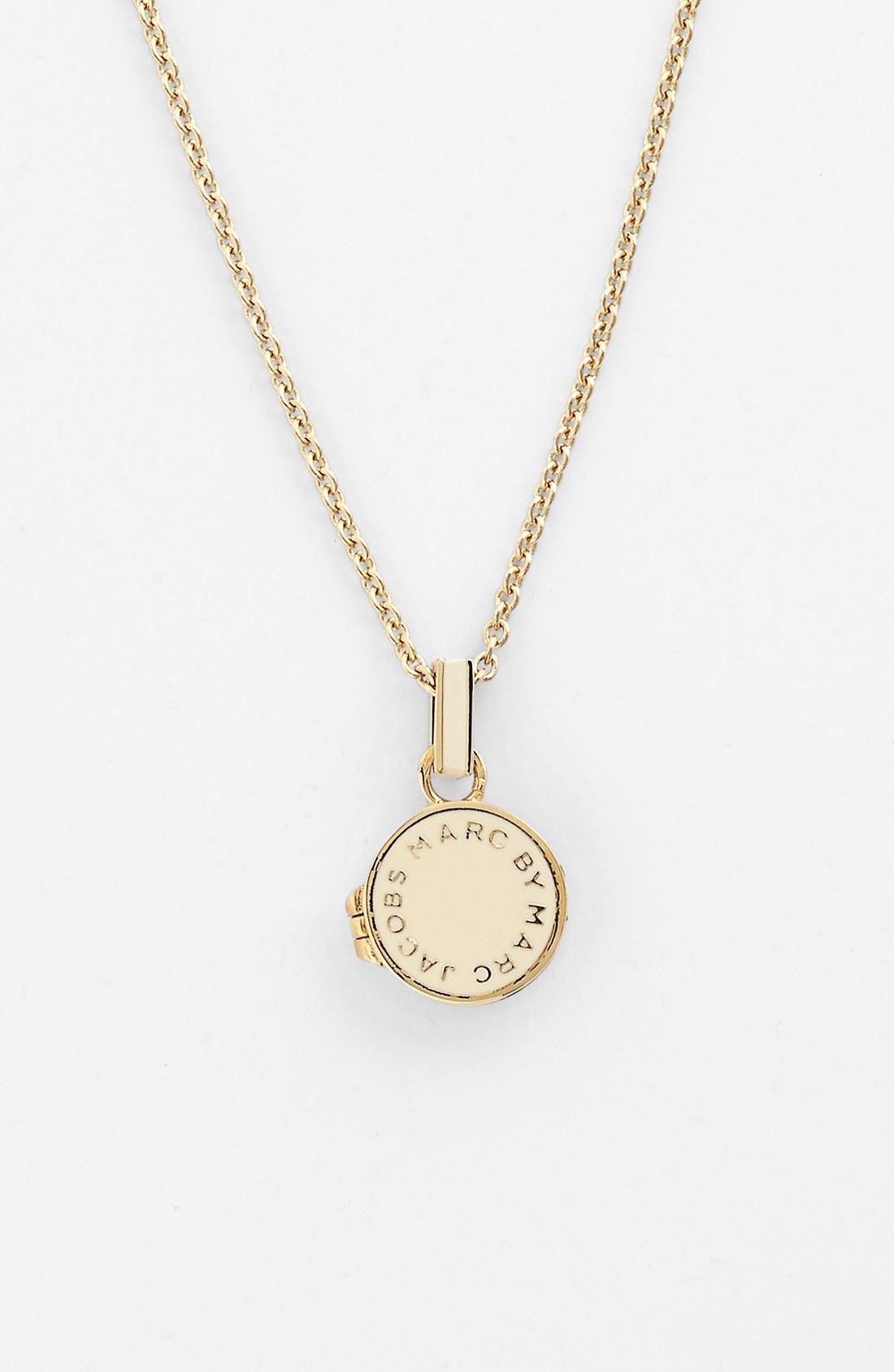 marc by marc classic enamel disc pendant necklace