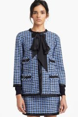 Marc Jacobs Wool Blend Tweed Jacket - Lyst