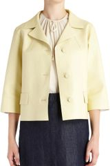 Marni Faux Leather Threequarter Sleeve Jacket - Lyst