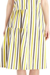 Marni Striped Sleeveless Dress - Lyst