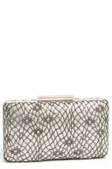 Natasha Couture Snake Sequin Box Clutch - Lyst