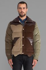Prps Goods & Co Patchwork Jacket in Brown - Lyst