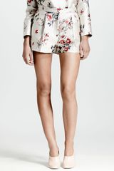 Stella McCartney Wildflower Jacquard Shorts Whitemulti - Lyst