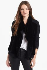 Theory Gwenivere Genuine Rabbit Fur Wool Jacket - Lyst