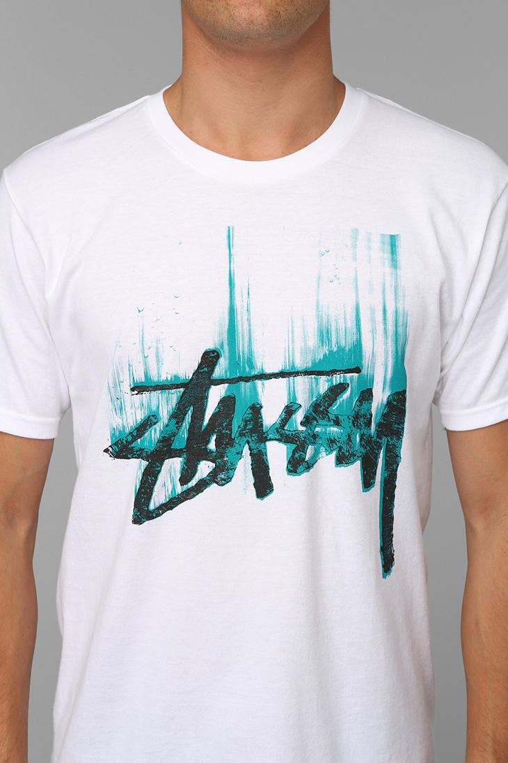 eede83aa Urban Outfitters Stussy Stock Paint Tee in White for Men - Lyst