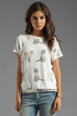 Wildfox Couture We Are Siamese Camden Top in White - Lyst