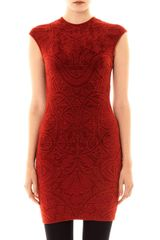 Alexander McQueen Rose Window Jacquard Dress - Lyst