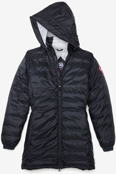 Canada Goose Down Fill Hooded Camper 34 Length Jacket In