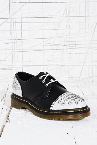 Dr. Martens Premium Studded Shoes in Monochrome - Lyst