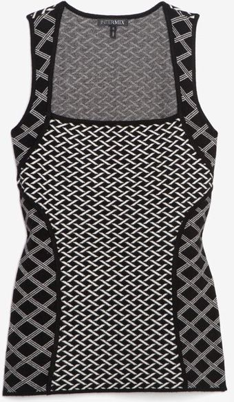 Exclusive For Intermix Mixed Print Square Neckline Sleeveless Knit - Lyst