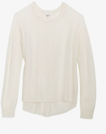 Exclusive For Intermix Inverted Back Pleat Cashmere Sweater - Lyst