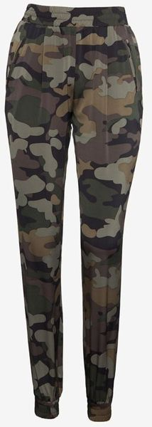 Exclusive For Intermix Camo Print Silk Pants - Lyst