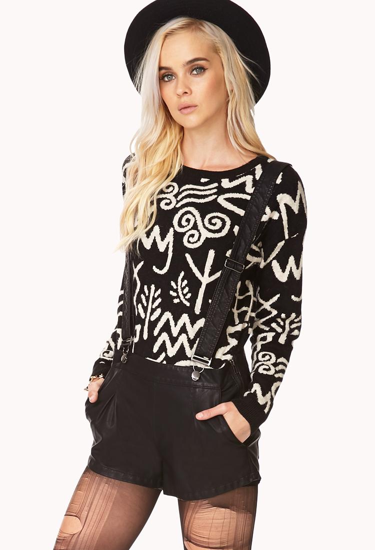 Forever 21 Rebel Girl Shorts W/ Suspenders in Black | Lyst