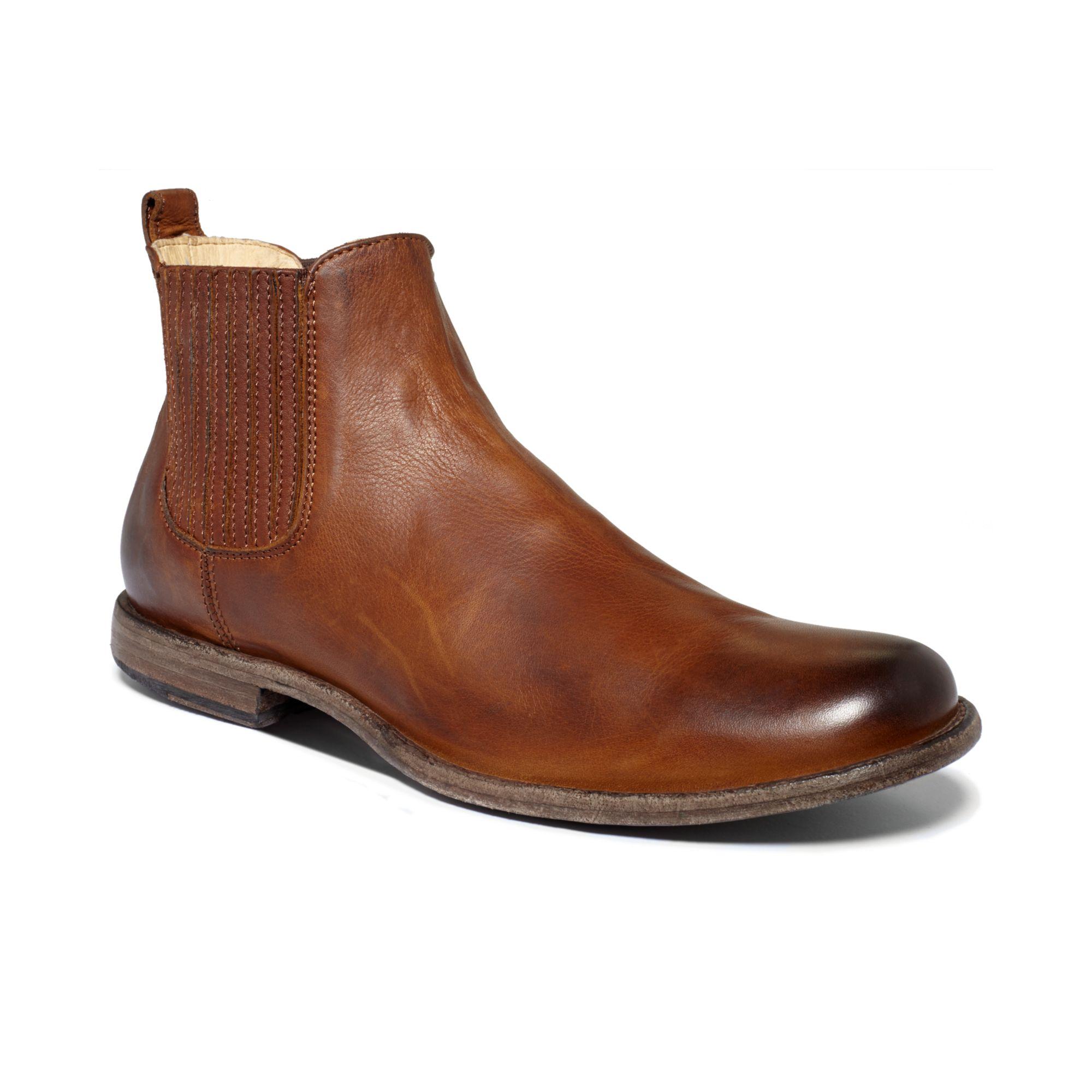frye chelsea boots in brown for men cognac lyst. Black Bedroom Furniture Sets. Home Design Ideas