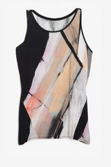 Helmut Lang Flesh Print Sleeveless Top