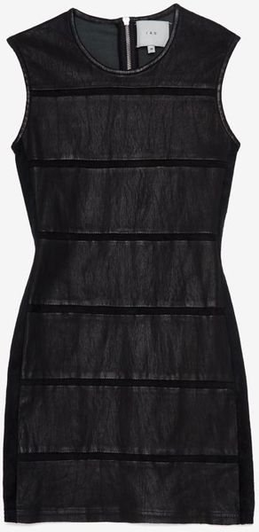 Iro Leather Panel Sheath Dress - Lyst