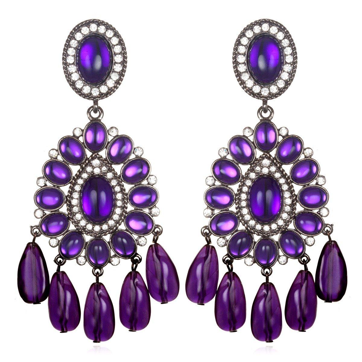Kenneth Jay Lane Purple Chandelier Earrings In Purple Lyst
