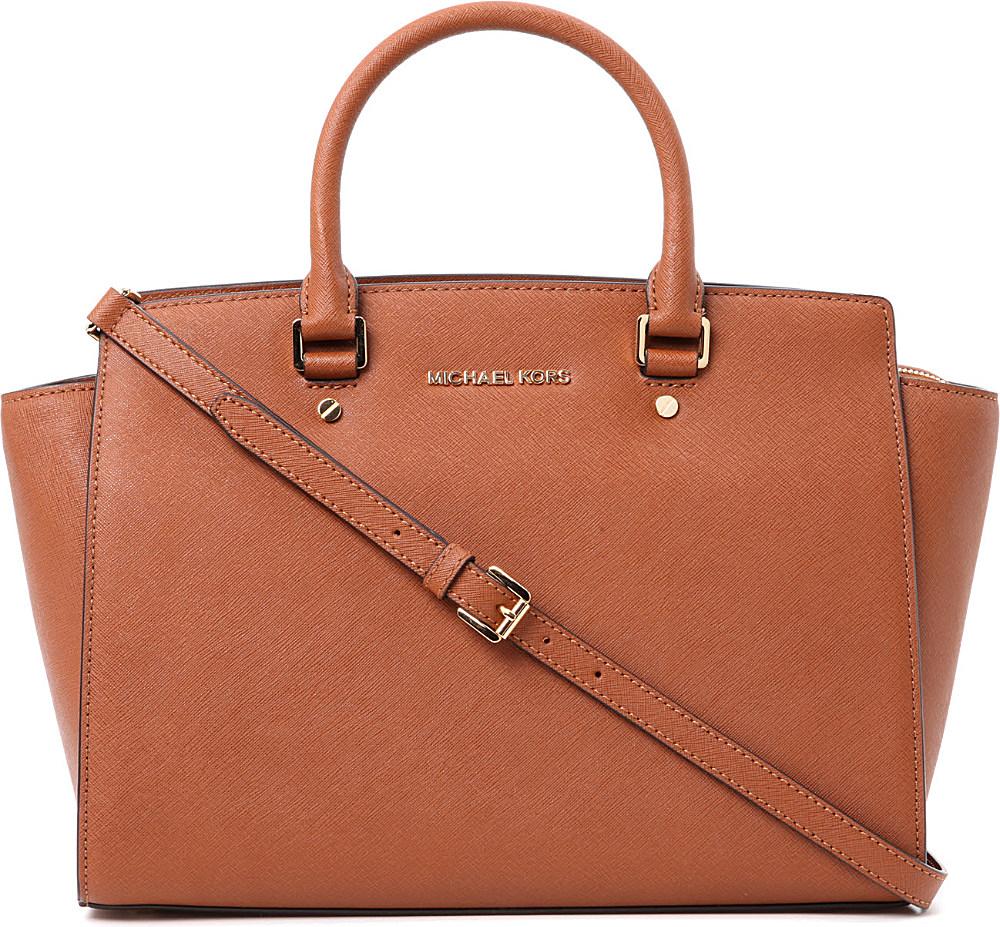 michael michael kors selma large zip top satchel in brown. Black Bedroom Furniture Sets. Home Design Ideas