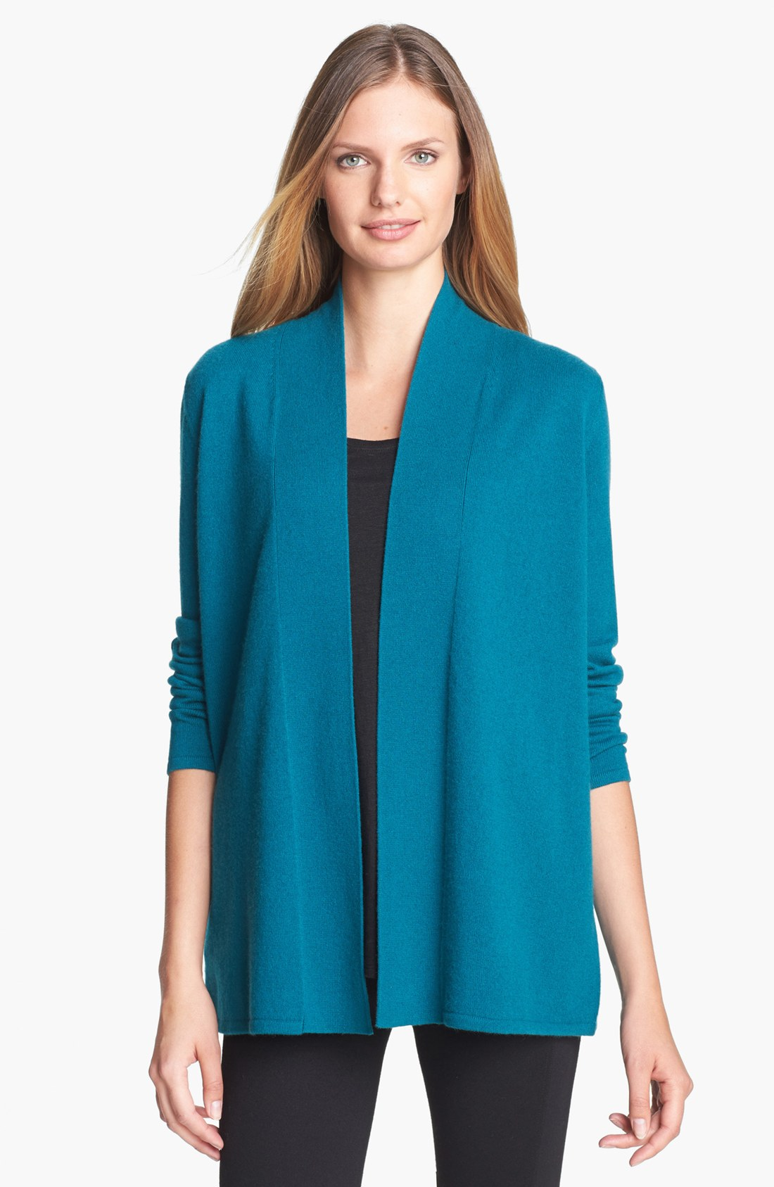 Nordstrom: Nordstrom Collection Open Front Cashmere Cardigan In Blue