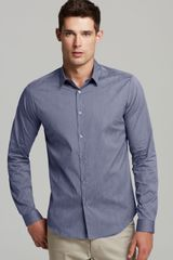 Theory Stephan Fieldspar Polka Dot Sport Shirt Slim Fit - Lyst