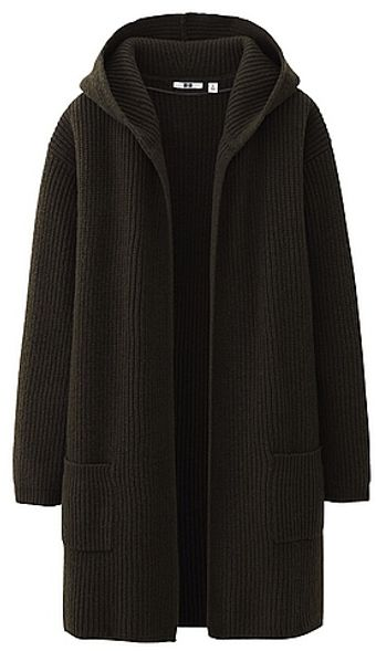 Uniqlo Heavy Gauge Sweater Coat - Lyst