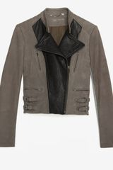Yigal Azrouel Two Tone Leather Jacket - Lyst