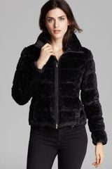 Armani Faux Fur Trim Jacket - Lyst