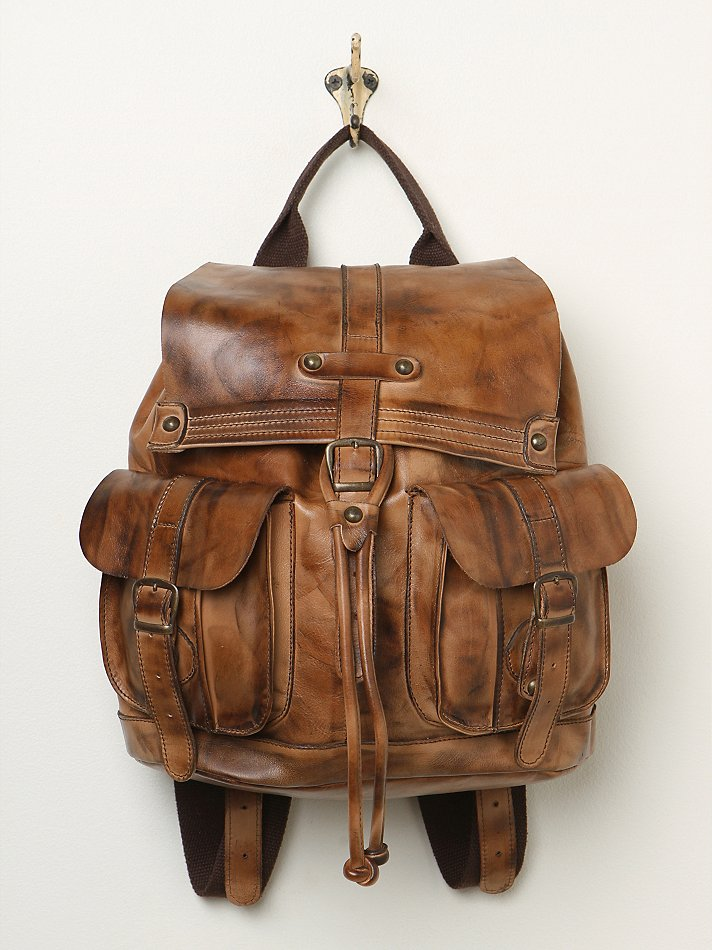 free people jericho backpack in brown lyst. Black Bedroom Furniture Sets. Home Design Ideas