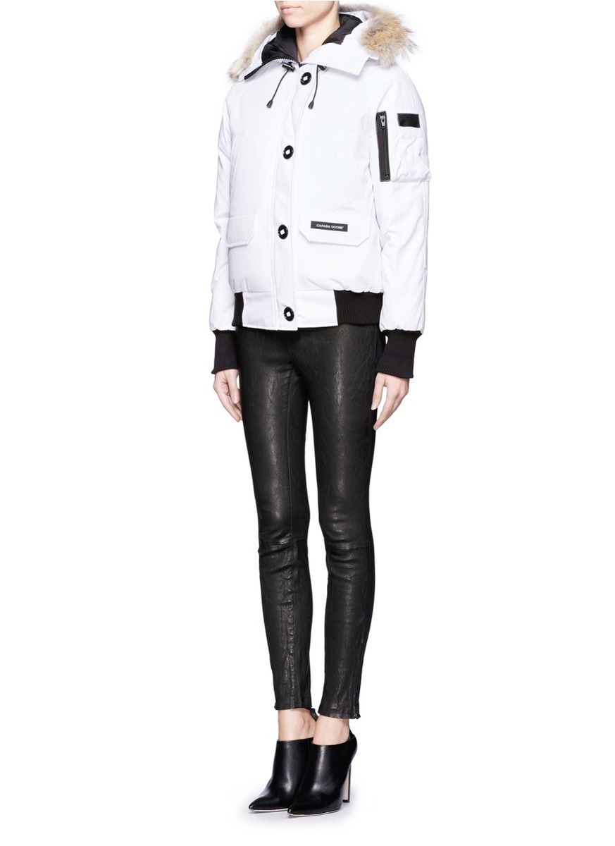 Canada Goose womens replica shop - Canada goose Chilliwack Bomber Jacket in White | Lyst