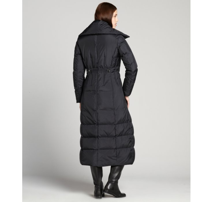 Cole Haan Quilted Down Filled Zip Front Three Quarter