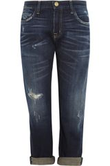 Current/Elliott The Boyfriend Cropped Boyfriendfit Jeans - Lyst