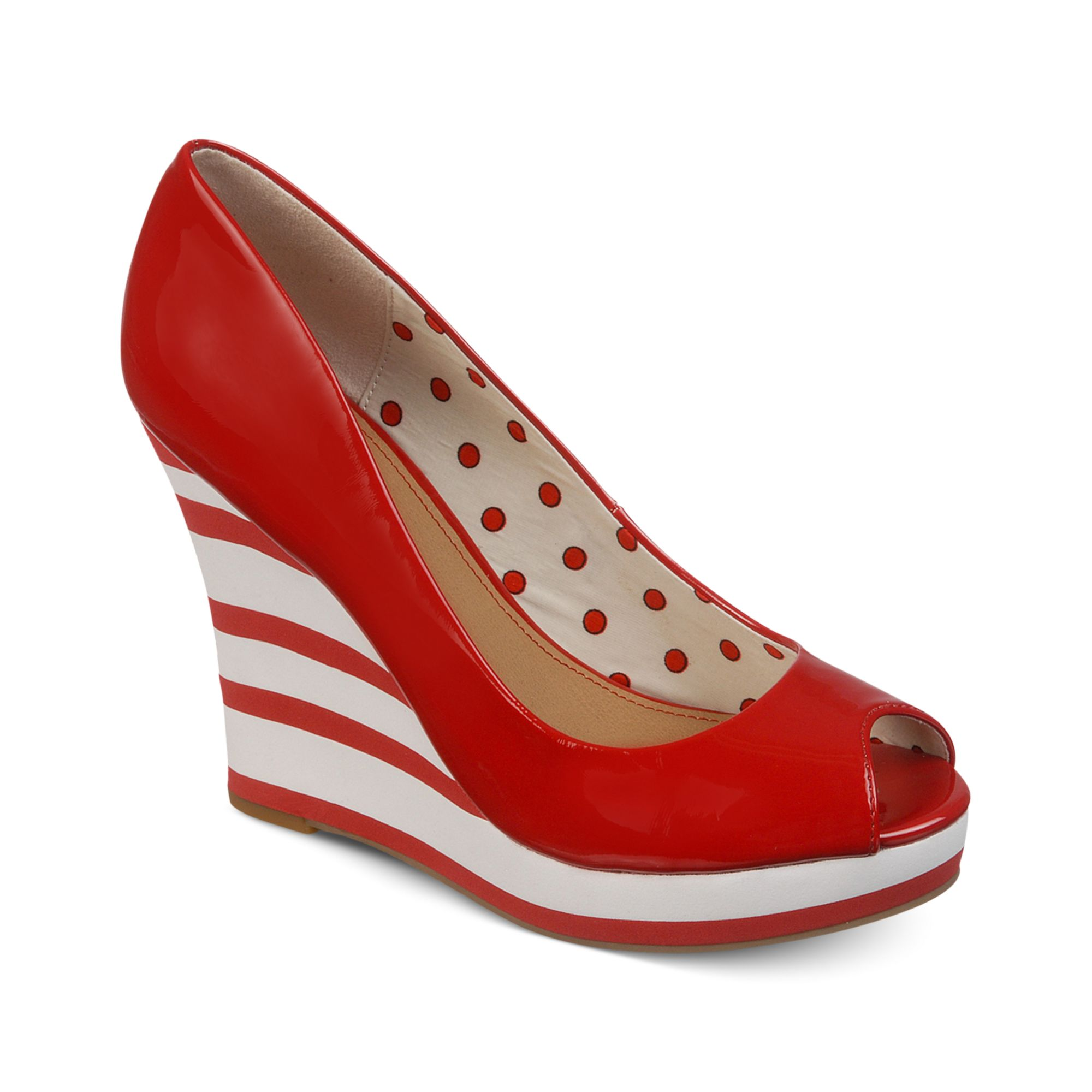 Lyst - Fergie Fergalicious Shoes Untold Platform Wedges in Red Fergie Shoes