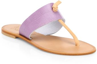 Joie Nice Bicolor Leather Sandals - Lyst