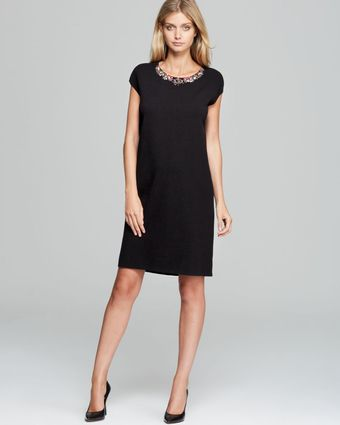 Max Mara Studio Lisetta Knit Dress with Embellished Collar - Lyst