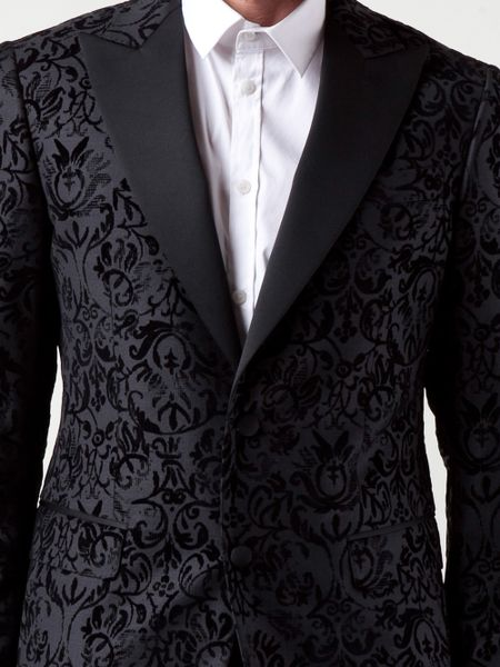 Moschino Damask Suit In Black For Men Lyst