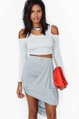 Nasty Gal Lifting Shadows Crop Top - Lyst