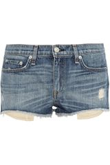 Rag & Bone Mila Distressed Denim Shorts - Lyst