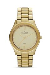 Skagen Goldtone Crystal Link Bracelet Watch 385mm - Lyst
