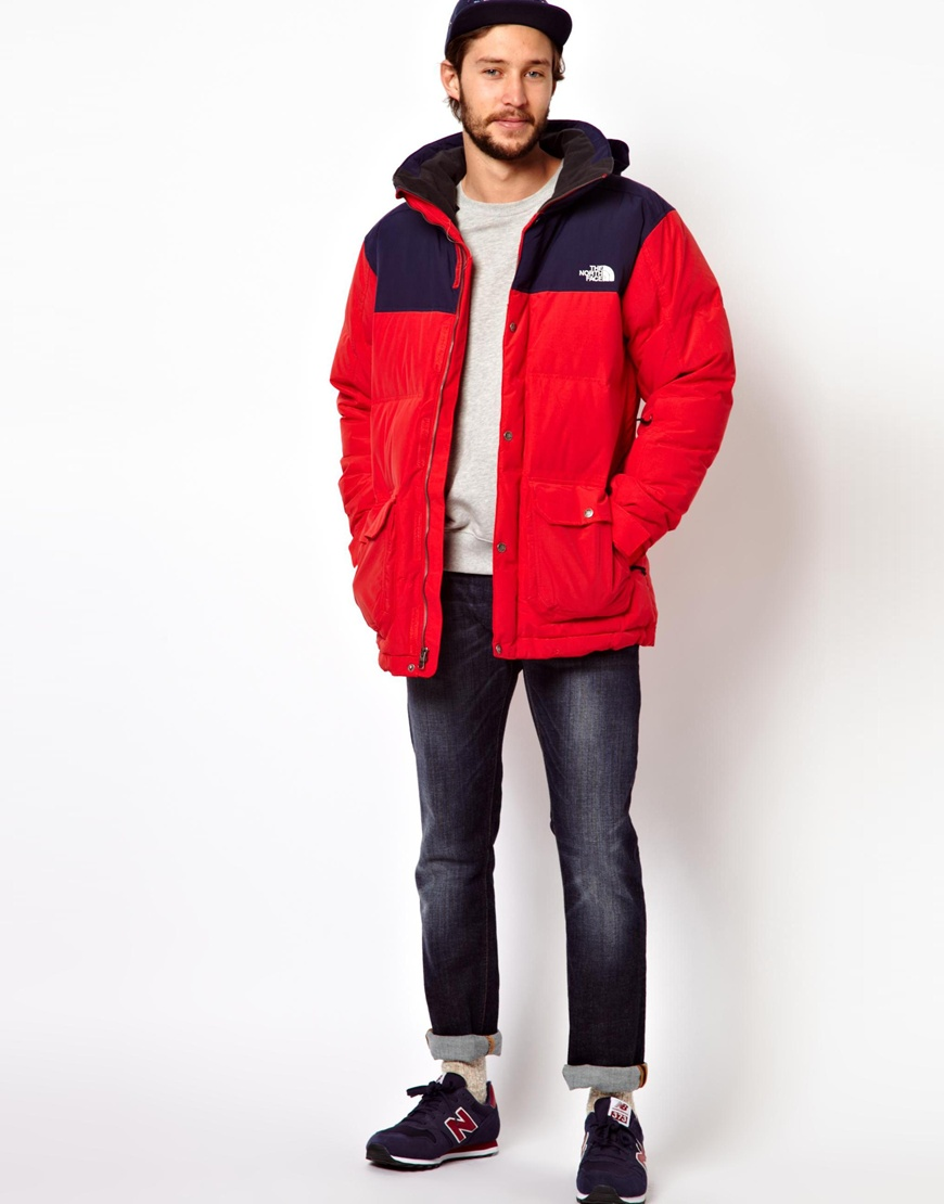 The north face Down Snowsport Jacket in Red for Men | Lyst