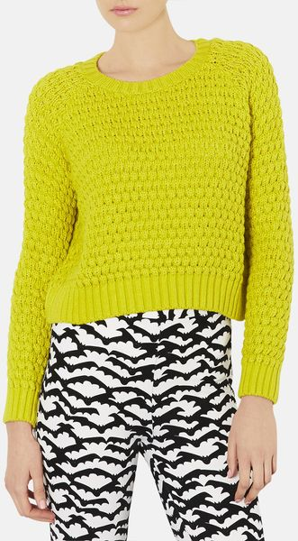 Topshop Knit Sweater - Lyst