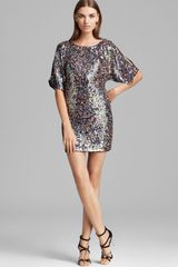Trina Turk Sequin Georgette Dress Amabel - Lyst