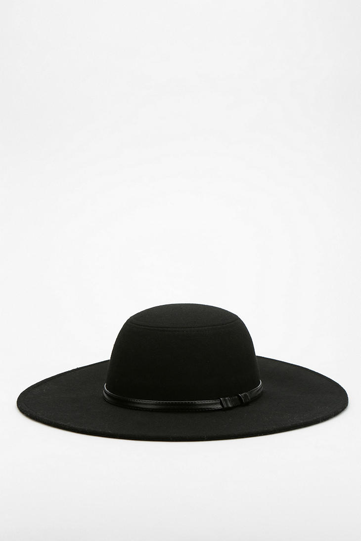 Lyst Staring At Stars Lola Felt Floppy Hat In Black